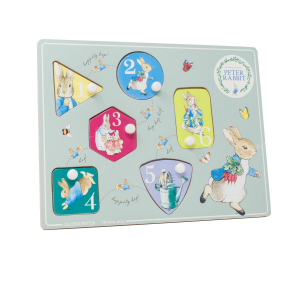 Peter Rabbit Wooden Number Peg Puzzle
