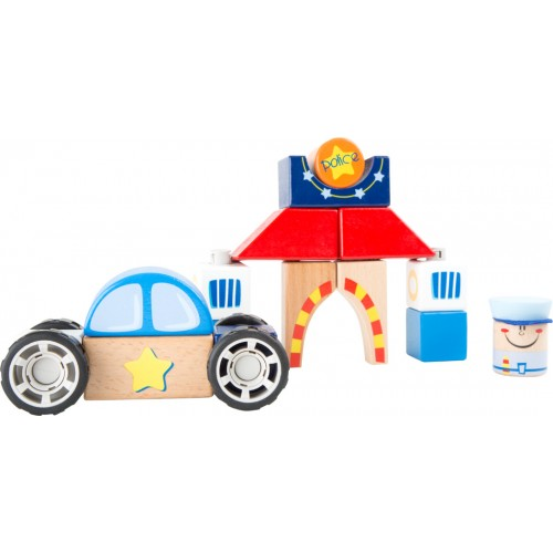 Small Foot Police Wooden Construction Set