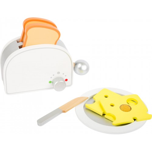 Small Foot Wooden Toaster and Breakfast Set