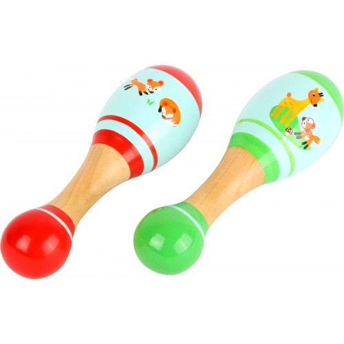 Small Foot Fox Wooden Maracas