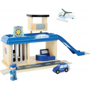 Small Foot Wooden Police Station with Accessories
