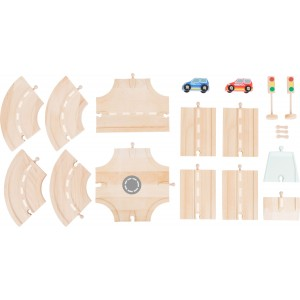 Small Foot World Road Pieces Set with Accessories