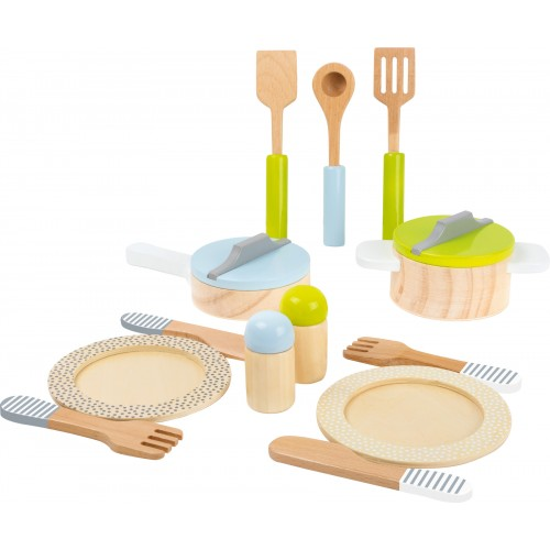 Small Foot Children's Kitchen Crockery and Cookware Set