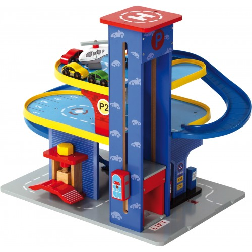 Small Foot Wooden City Garage Playset