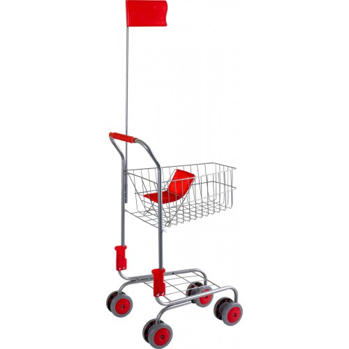 Small Foot Silver Shopping Trolley