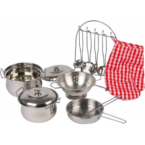 Small Foot Silver Metal Cookware Pan Set