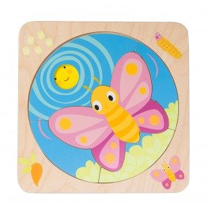 Tender Leaf Toys Butterfly Life Layered Puzzle