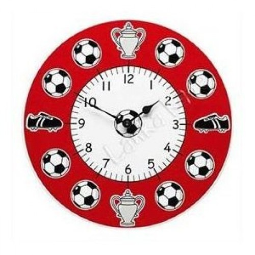 Lanka Kade wooden Football Clock in Red or Black